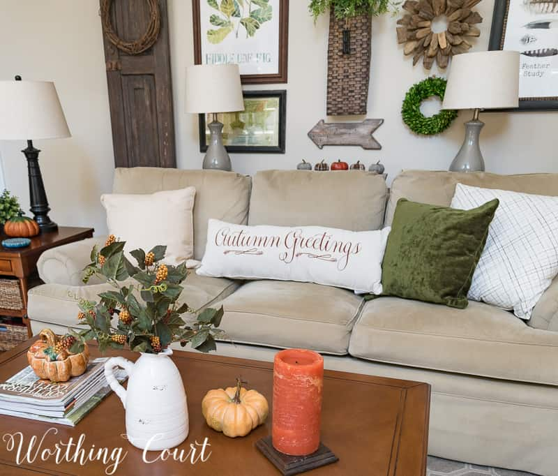 fall family room decor