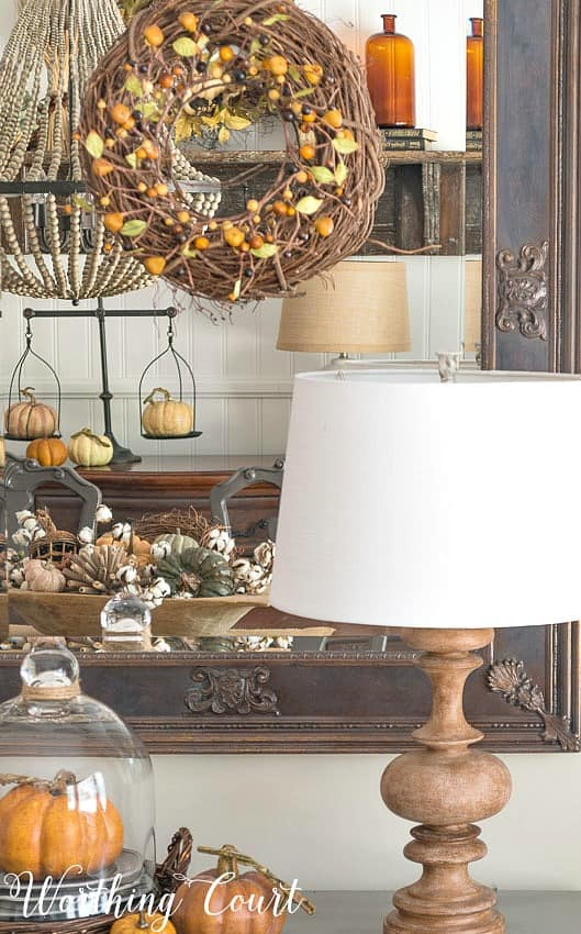 traditional fall colors dining room decorations