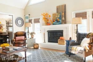 My Family Room Decorated For Fall + A Video Tour