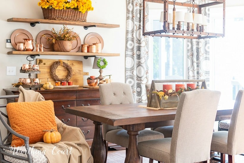 Decorating For Fall With Copper In My Breakfast Room + A Video Tour
