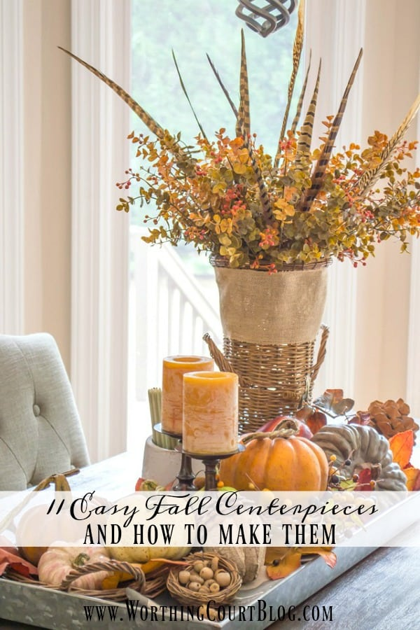 11 easy fall centerpieces and how to make them