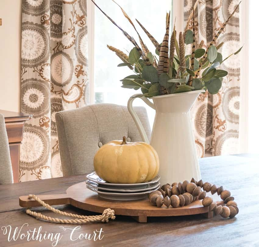farmhouse fall centerpiece