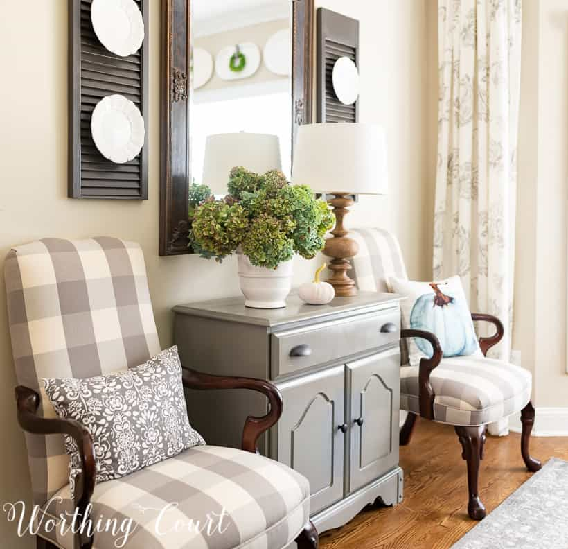 dining room side chairs cover with gray and white buffalo check fabric