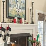 My Simple And Easy To Copy Christmas Mantel And Fireplace Decor