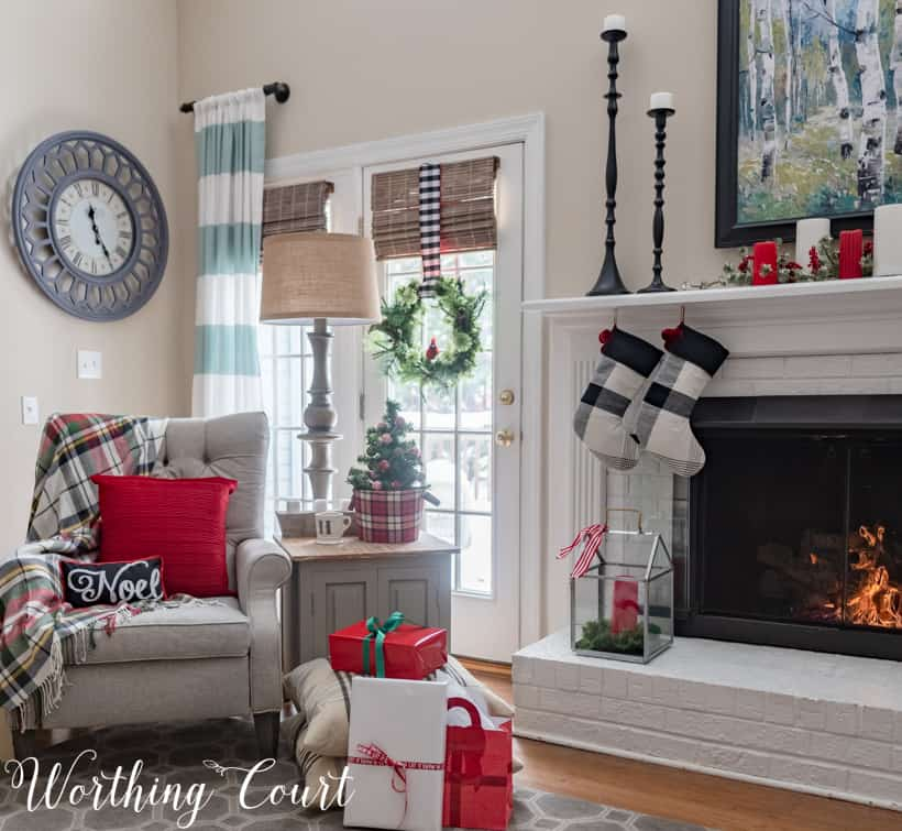 A cozy corner in a family room