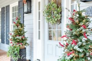 Christmas front porch decor