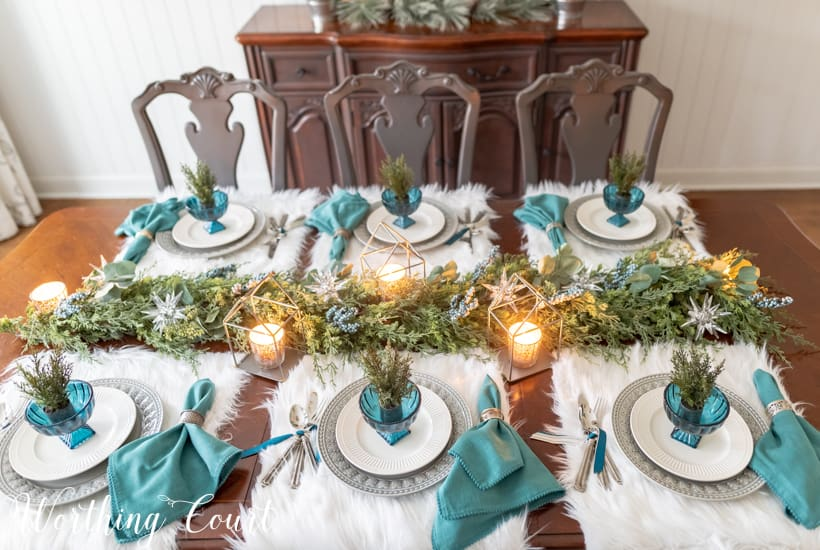 artificial greenery garland centerpiece