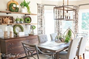 Spring decorating ideas for shelves with natural decor