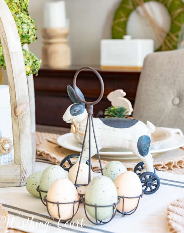 black and white Easter decorations