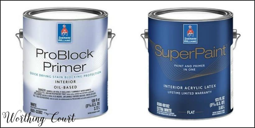 Sherwin Williams primer and paint