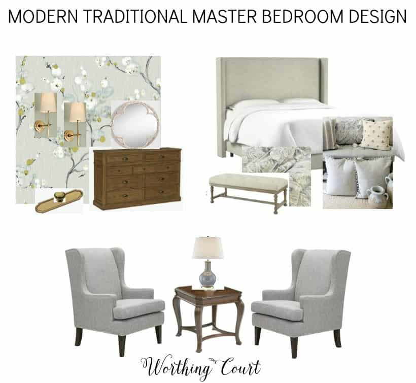design board for master bedroom