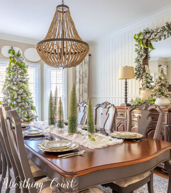 Elegant Christmas Decorations For A Dining Room Worthing Court