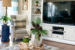 living room winter decor