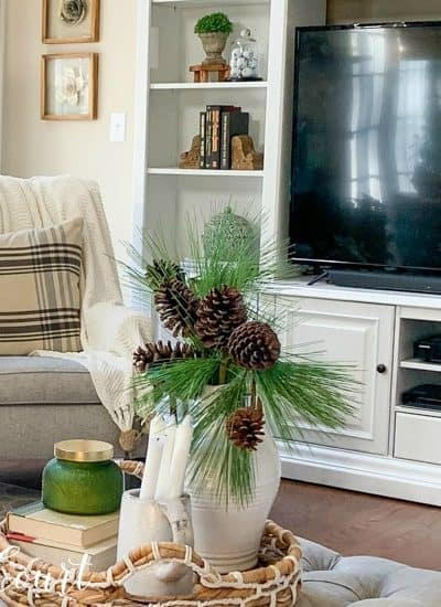 living room winter decor