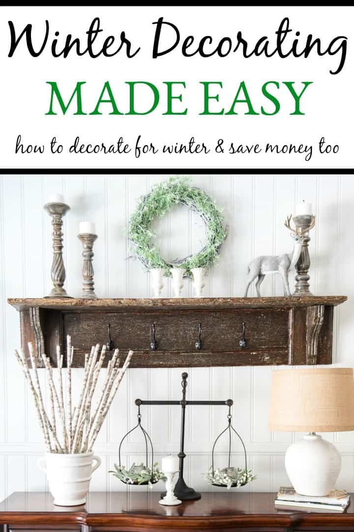 Winter Decorating Made Easy poster.