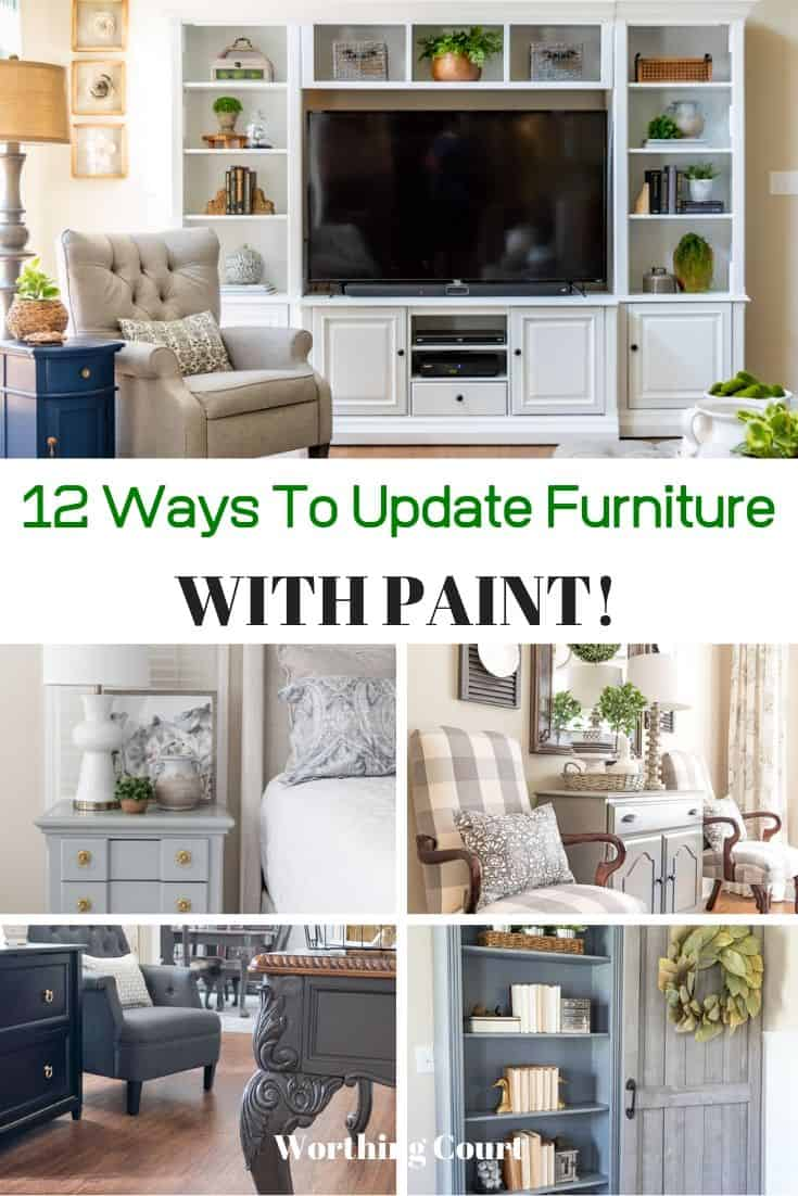 12 Ways To Update Furniture With Paint poster.