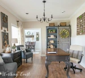 home office with updated traditional style