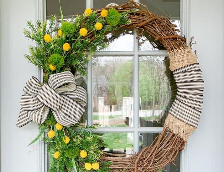 Spring front door wreath