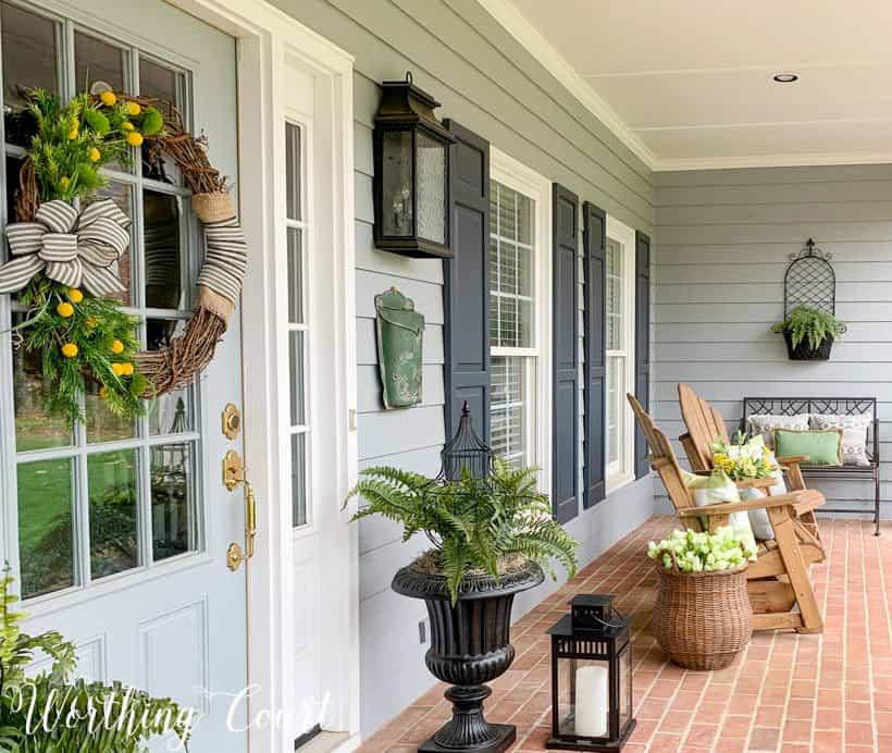 Spring front porch decor