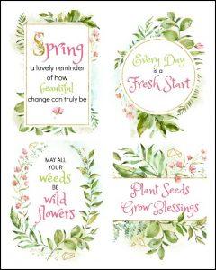 set of 4 spring printables