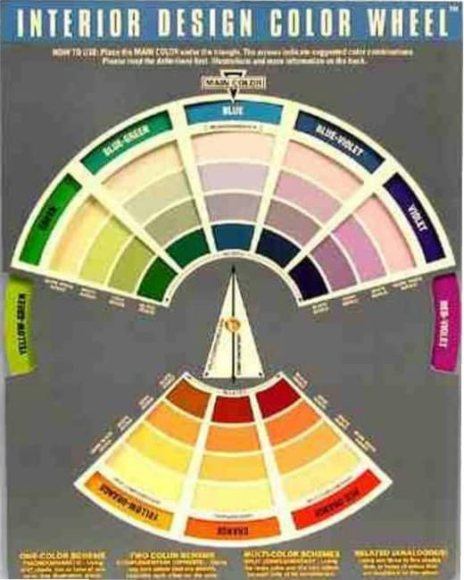 color wheel for interior design tool