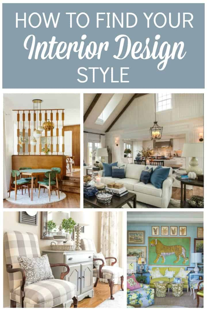 What's My Design Style Pinterest Graphic with 4 rooms