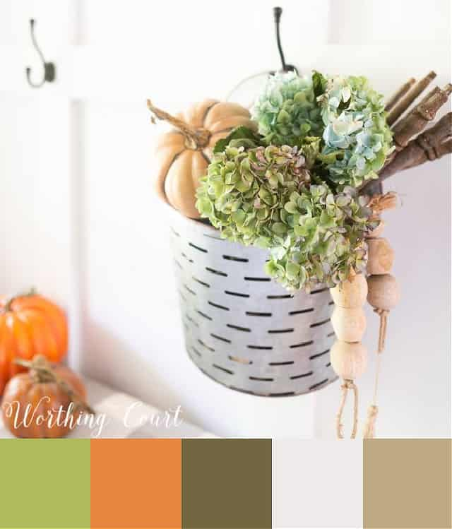 image of autumn decor showing the color palette used