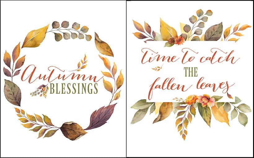 free printables with fall sayings and colors