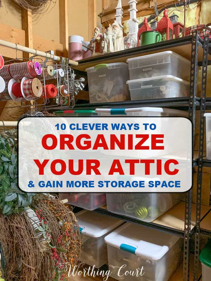 10 clever ways to organize your attic
