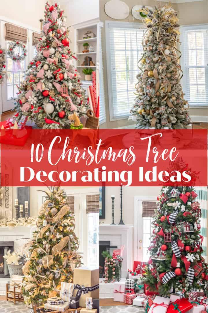 10 Christmas Tree Decorating Ideas graphic