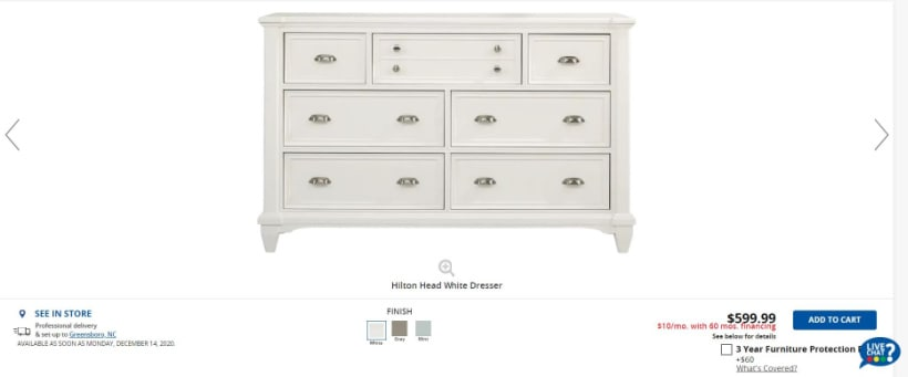 white bedroom dresser