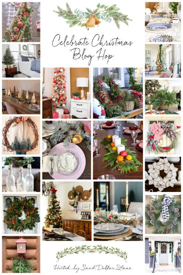 graphic for Christmas decorating ideas bloghop