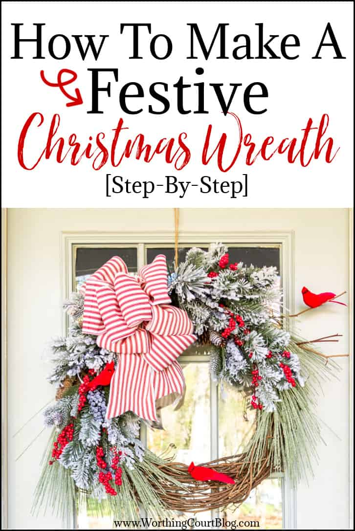 graphic for how to make a Christmas wreath