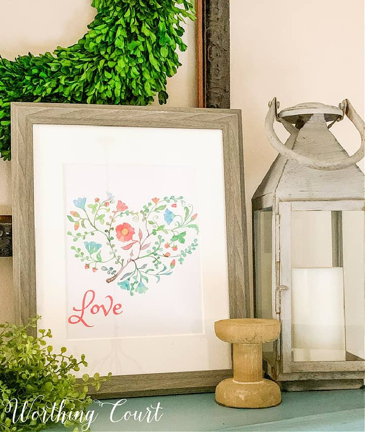 image of colorful heart in a frame