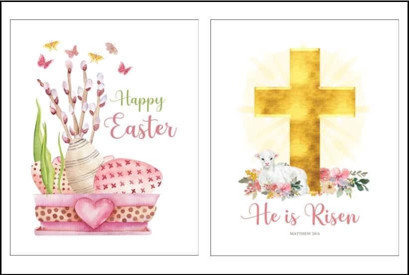 pair of Easter printables