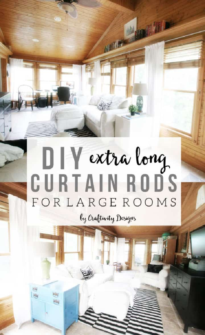 Pinterest image for extra long curtain rods