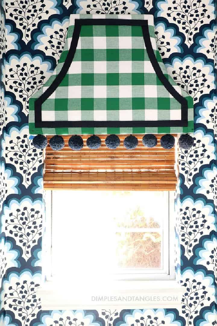 pagoda style upholstered cornice