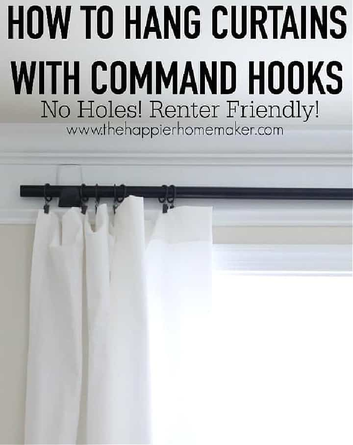 Pinterest image for hanging draperies with command hooks