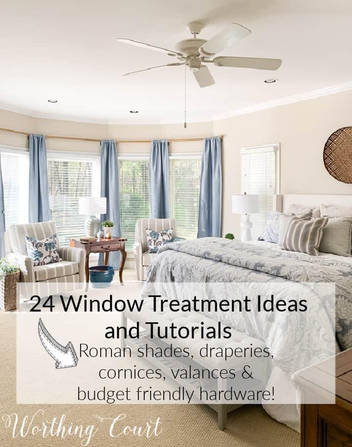 pinterest image for window treatment ideas
