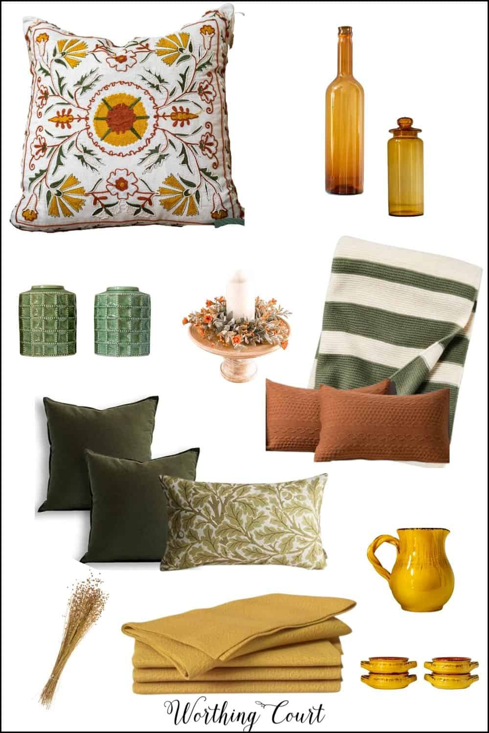 image of mood board with fall decor